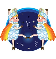 Zodiac sign in the form of dancing sheep vector