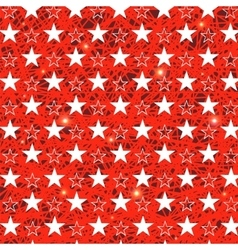 Starry grunge red background vector