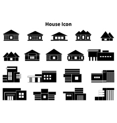a big set of icon of houses vector image