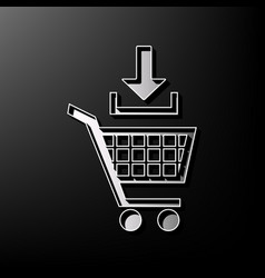 Add to shopping cart sign gray 3d printed vector