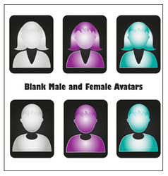 blank avatars set vector image vector image