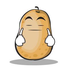 Boring potato character cartoon style vector