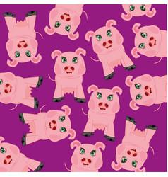 Cartoon animal piglet vector