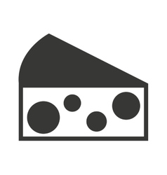 cheese piece isolated icon design vector image