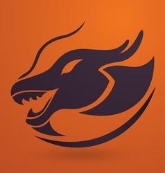 Dragon logo vector