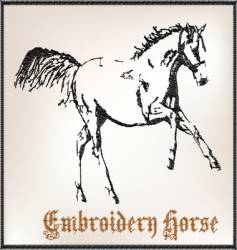 embroidery horse vector image vector image