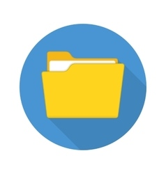 Folder icon with long shadow vector
