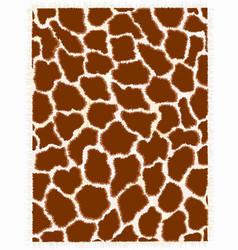 giraffe repeating pattern texture vector image vector image