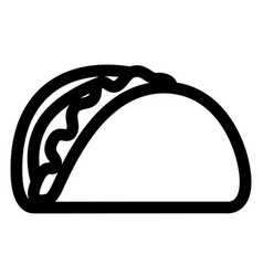 Isolated taco icon vector
