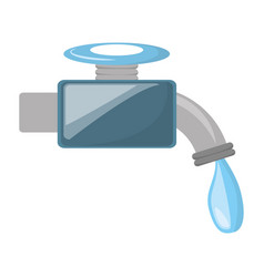 isolated water faucet vector image