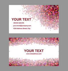Multicolor tile mosaic business card template vector