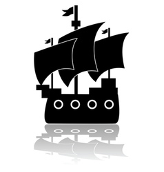 Old ship vector