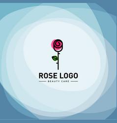 rose logo design vector image