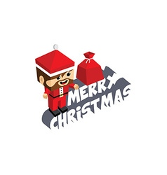 Santa claus merry christmas cartoon vector