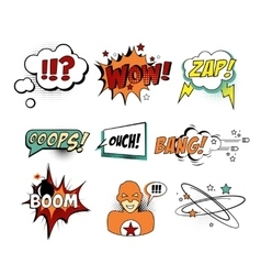 Set of Comic Text Pop Art style vector image vector image