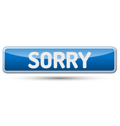 Sorry - abstract beautiful button with text vector