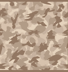 War desert safari camouflage seamless pattern vector