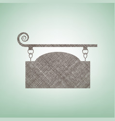 Wrought iron sign for old-fashioned design vector