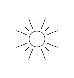 Sun icon outline contour vector