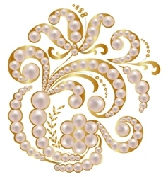 Jewelry with pearls vector