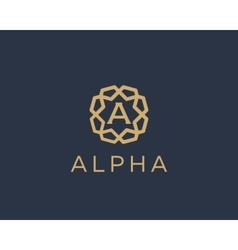 Premium letter a logo icon design luxury vector