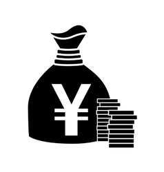 Japanese yen flat icon for apps and websites vector