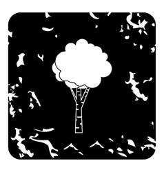Birch icon grunge style vector