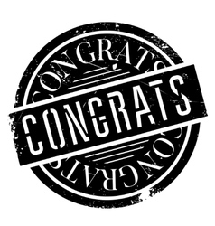Congrats rubber stamp vector image