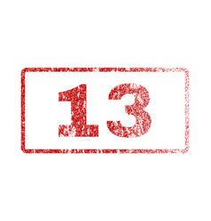 13 rubber stamp vector image