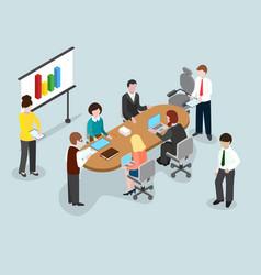 business brainstorming 3d concept close team vector image