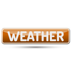 Weather - abstract beautiful button with text vector