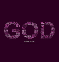 God with bible words genesis to revelation vector