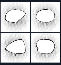 Set of retro style speech bubble vector