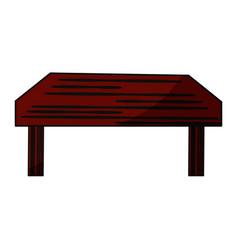 Wooden dining desk vector