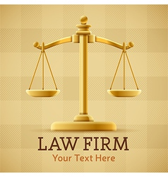 Law Firm Justice Scale Background vector image