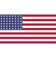 Us flag wwi wwii 48 stars flat vector