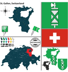 Map of st gallen vector