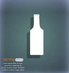 Bottle icon symbol on the blue-green abstract vector