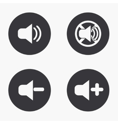 Modern sound icons set on vector