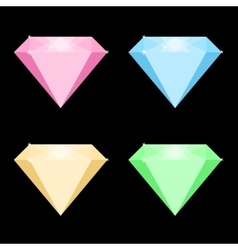 Colored diamonds vector