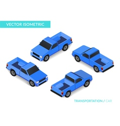 Blue isometric pickup vector
