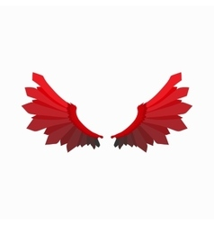 Red wings of devil icon cartoon style vector