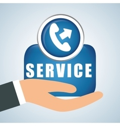 Design of call center editable vector