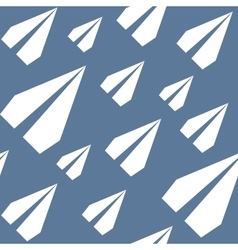 Paper planes seamless pattern repeating abstract vector