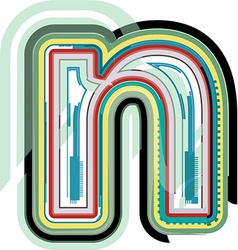 Abstract colorful Letter n vector image vector image