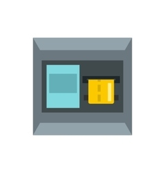 ATM machine icon flat style vector image