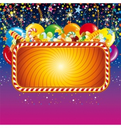 birthday feast billboard vector image vector image