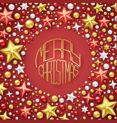 christmas background with shining stars and vector image vector image