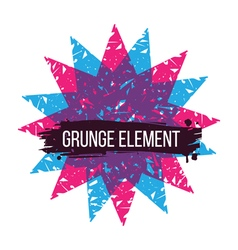 Color star grunge design element vector image