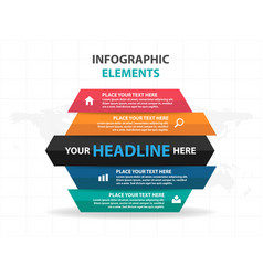 colorful part of hexagon business infographics vector image vector image